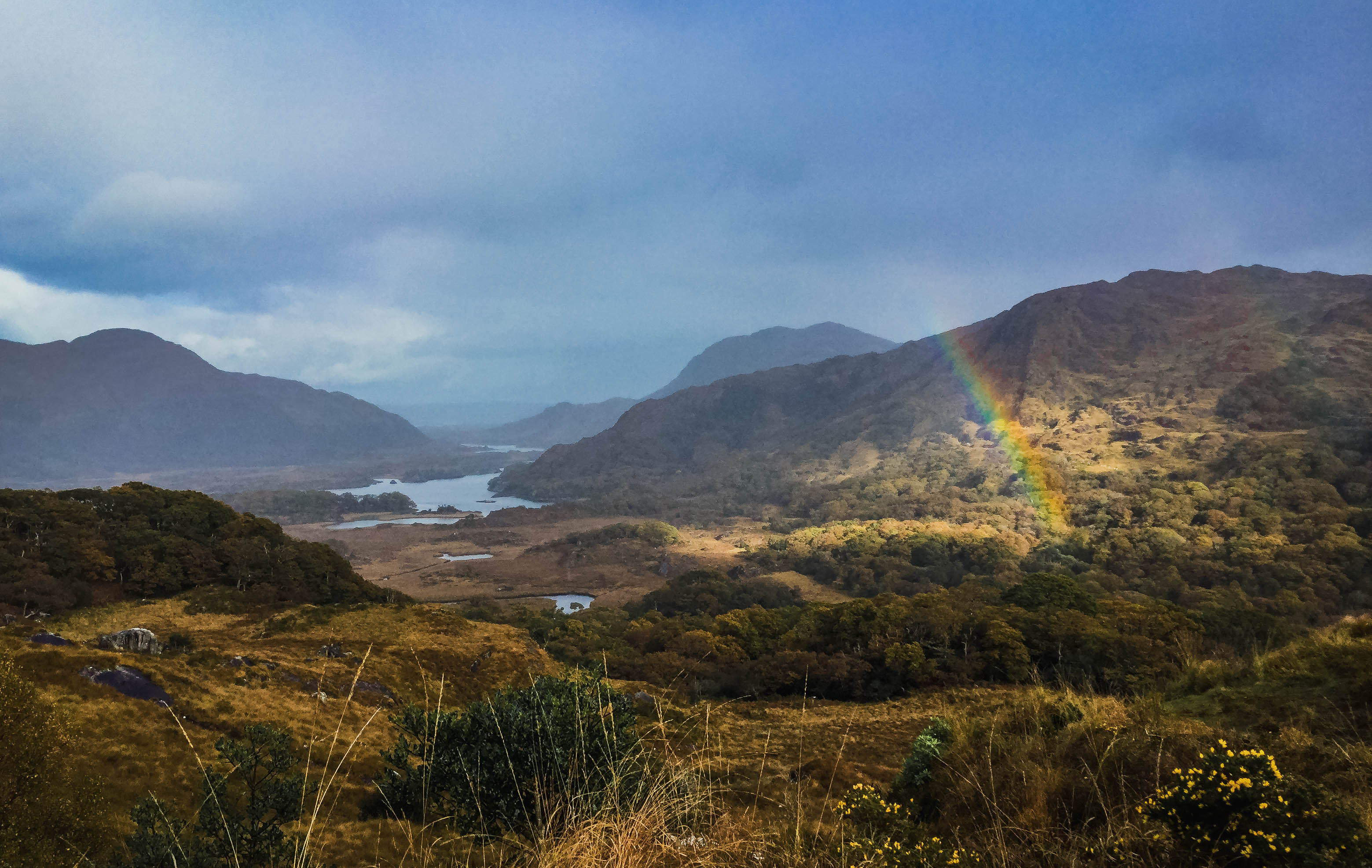 ladies view killarney national park nature rainbow, national parks