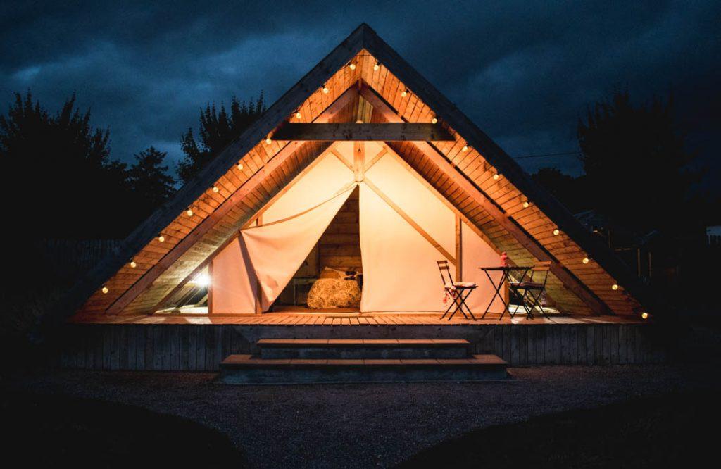 tent, yurt, glamping, grove