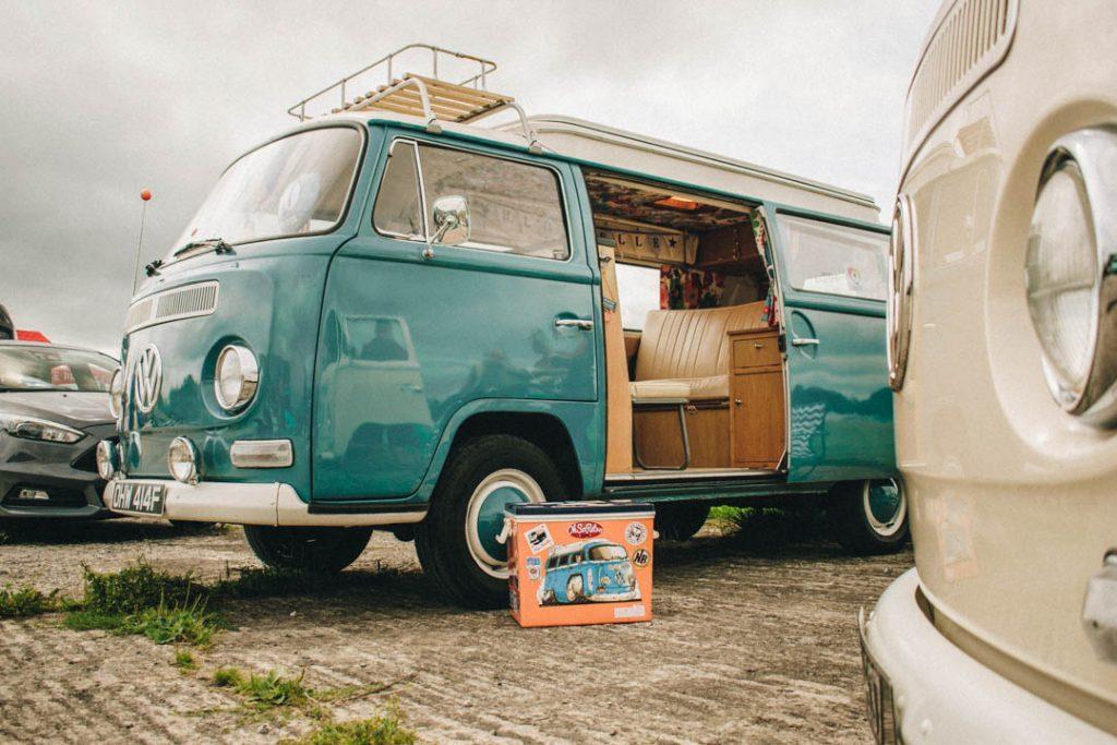 blue vw camper volkswagen drag day