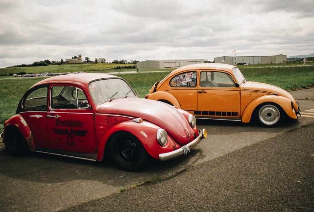 vintage vw beetles drag racing