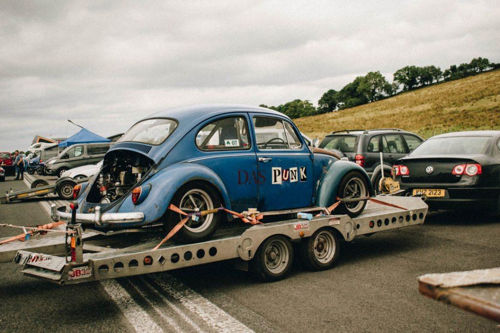 vw beetle drag racing car blue volkswagen