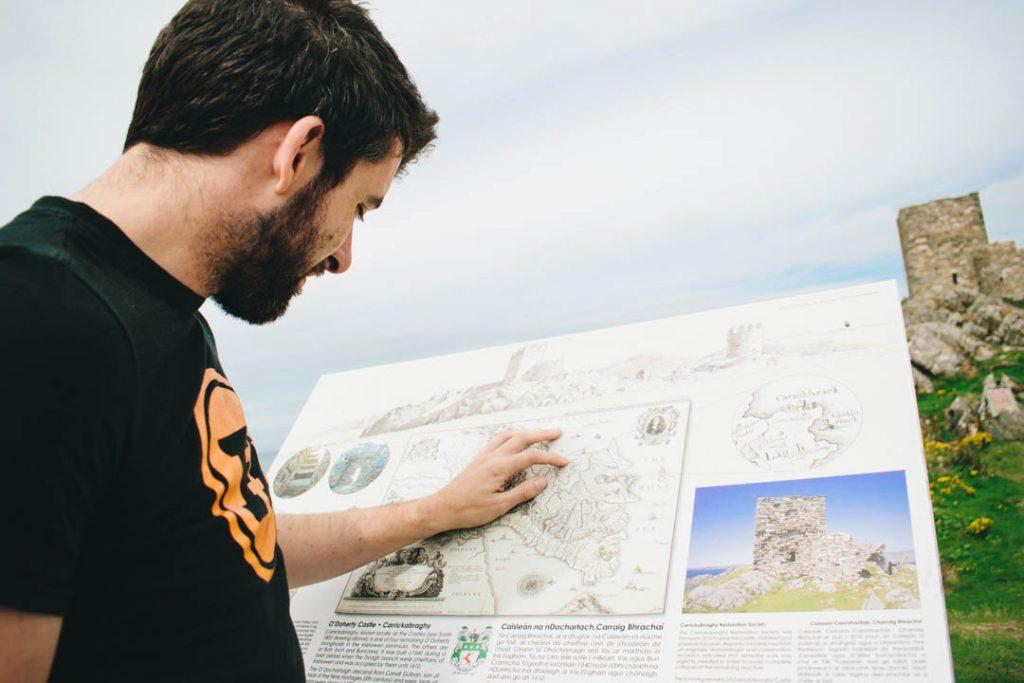 carrickabraghy castle doagh island donegal