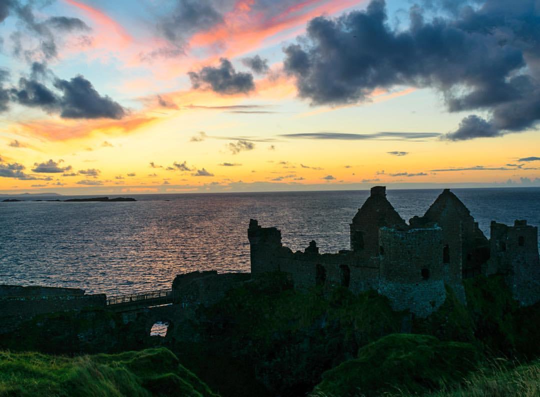 antrim, dunluce castle, ireland