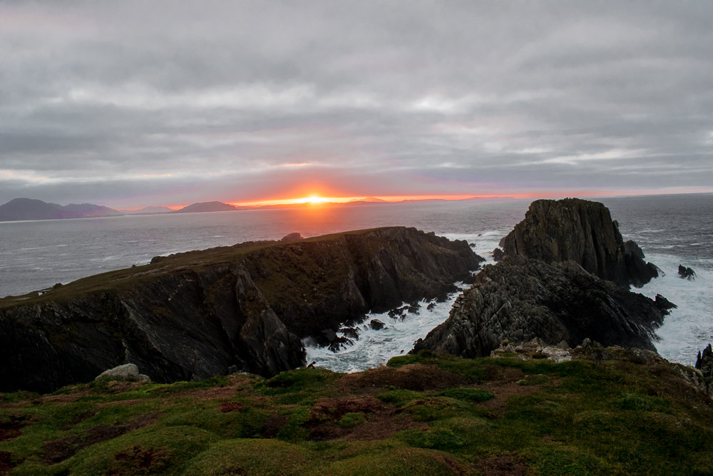 sunset, donegal, wild atlantic way, new years day