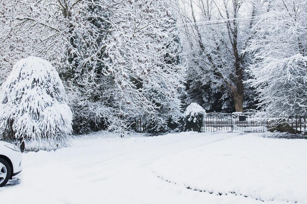 longford ireland february winter  snow