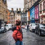 the tales of tinyboots, five instagrammable places in edinburgh, colourful, tinyboots, harry potter, victoria street