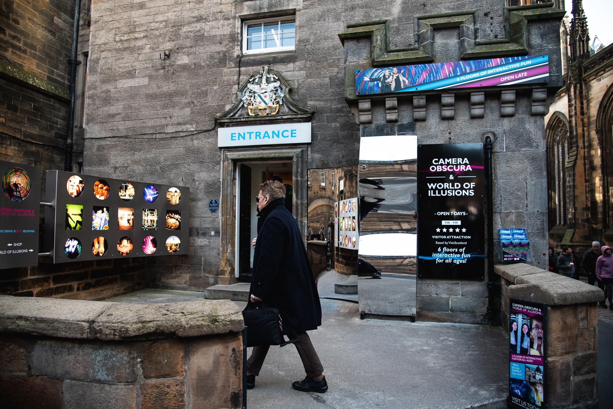 camera obscura, museum, edinburgh, illusions, scotland, tourist attraction edinburgh