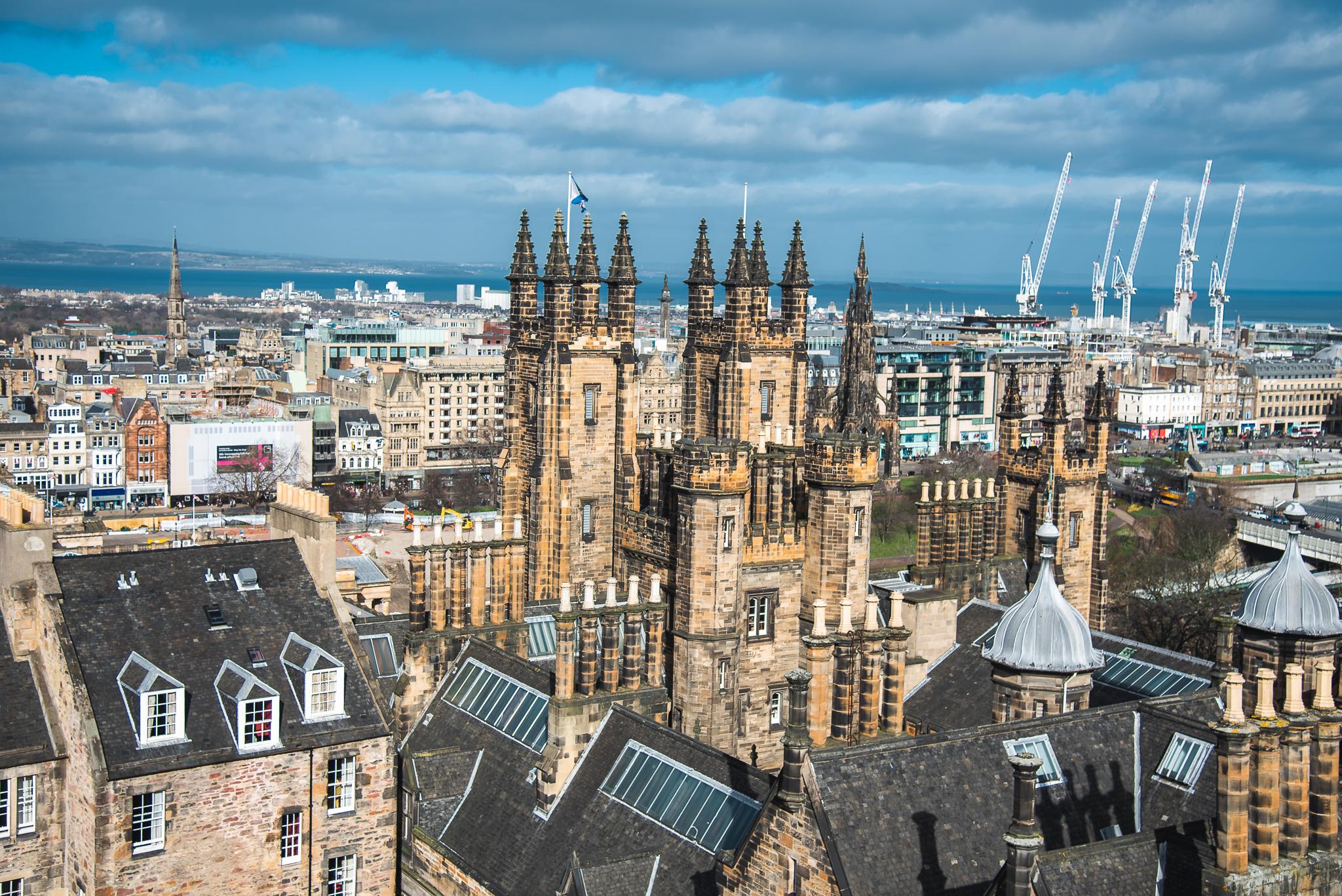 views of edinburgh, scotland, camera obscura