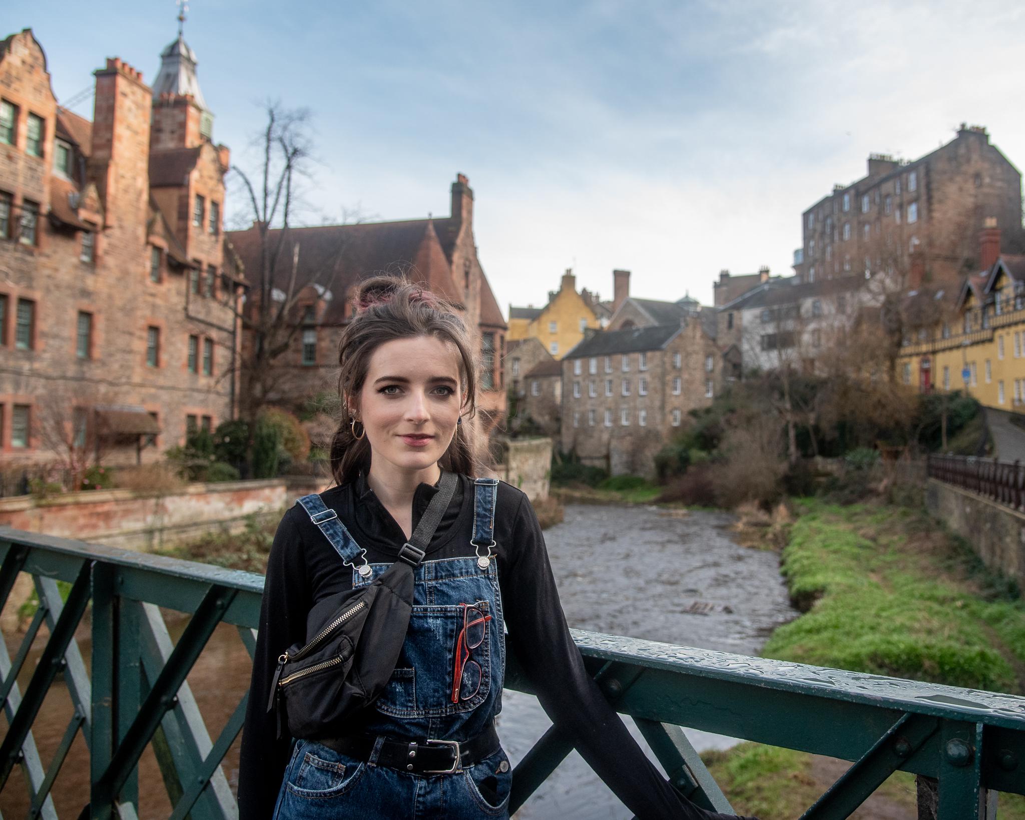 edinburgh, scotland, dean village, architecture, tinyboots, river, bokeh