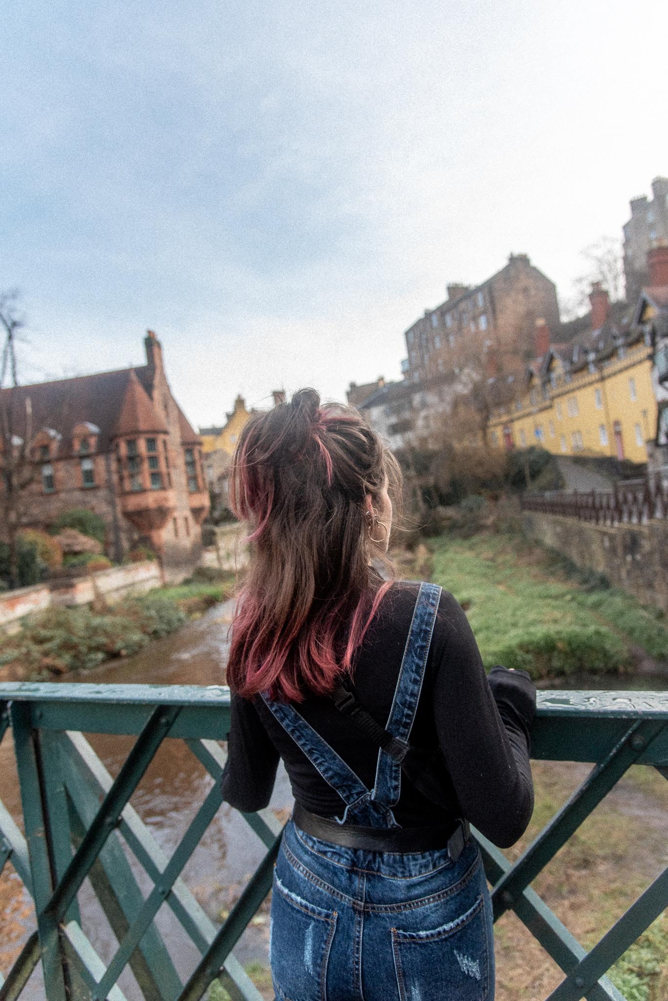 edinburgh, scotland, dean village, architecture, me, instagram