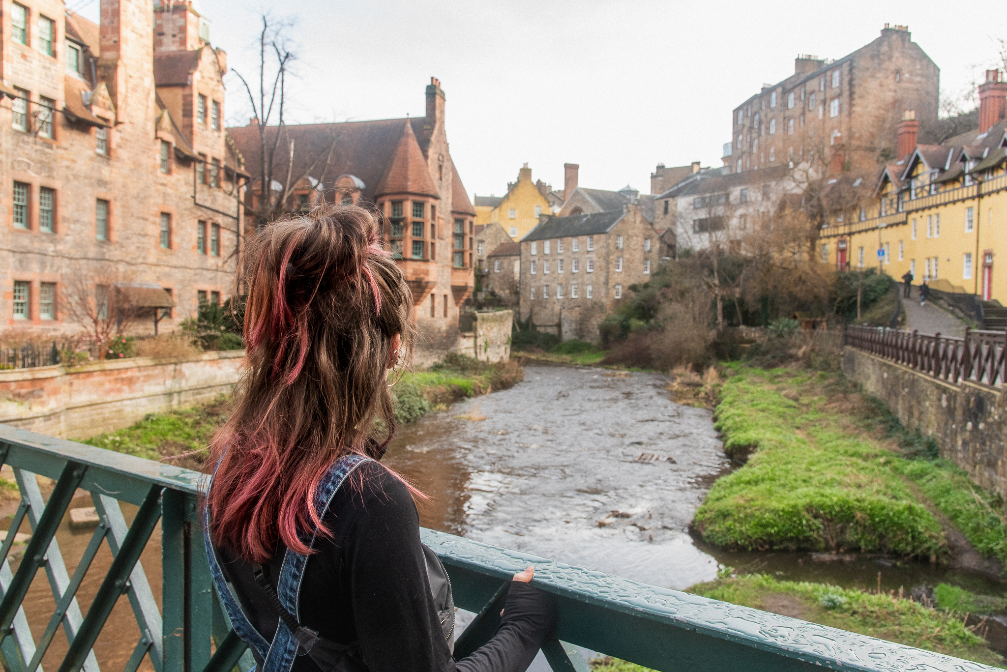 dean village, edinburgh, medival village, river, instagram, the tales of tinyboots, colourful, five of the most instagrammable places in edinburgh