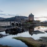 isle of skye, scotland, roadtrip, landscape, mountain, castle, ruin