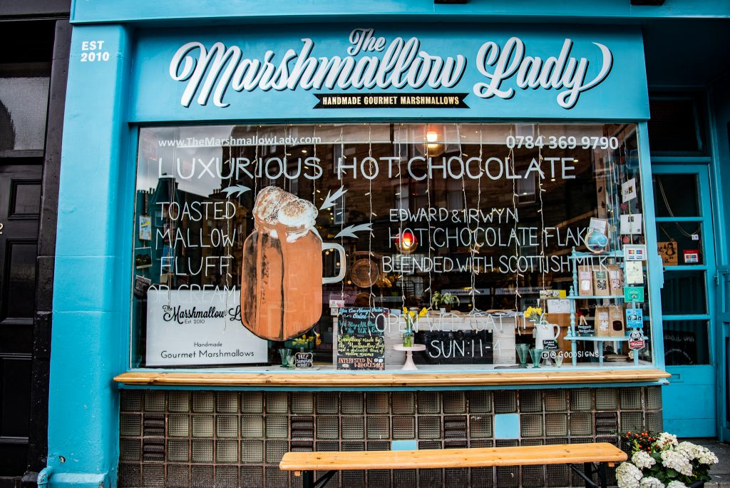the marshmallow lady, edinburgh