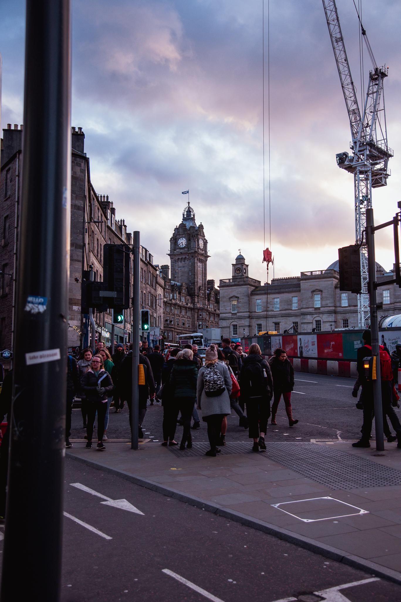 edinburgh, scotland , uk, city, architecture, sunset, buildings