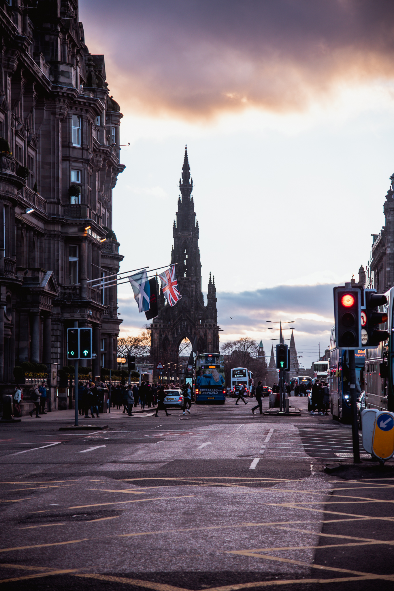 edinburgh, scotland , uk, city, architecture, sunset, buildings