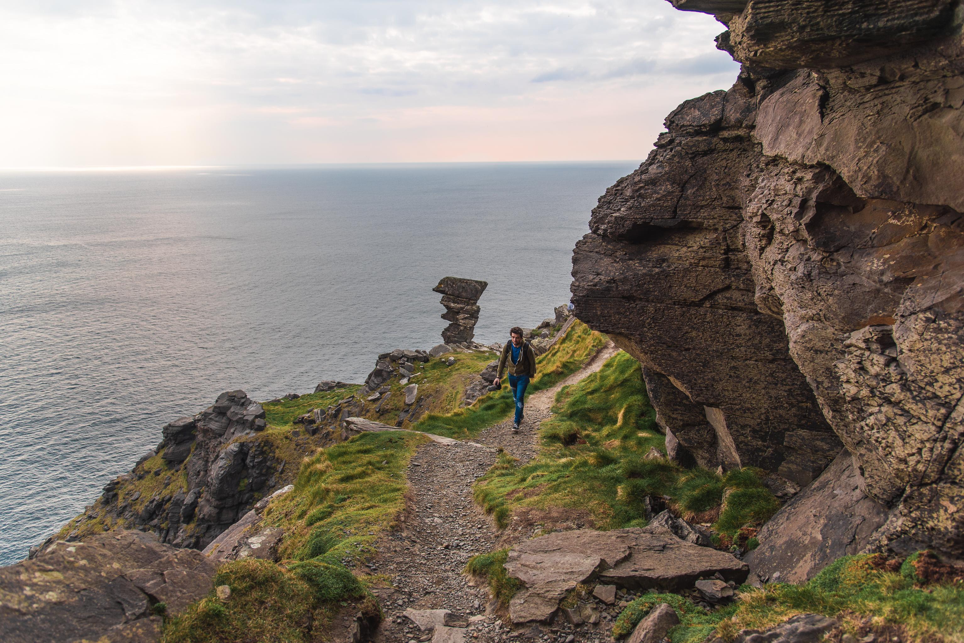 sunset, cliffs of moher, wild atlantic way