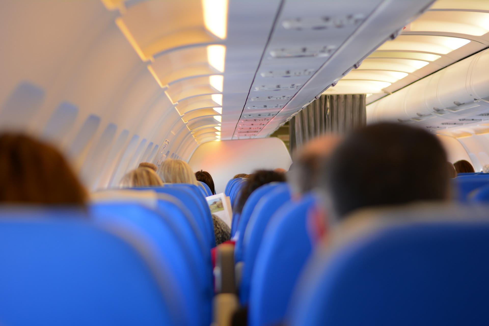 cabin, flying, plane, flight