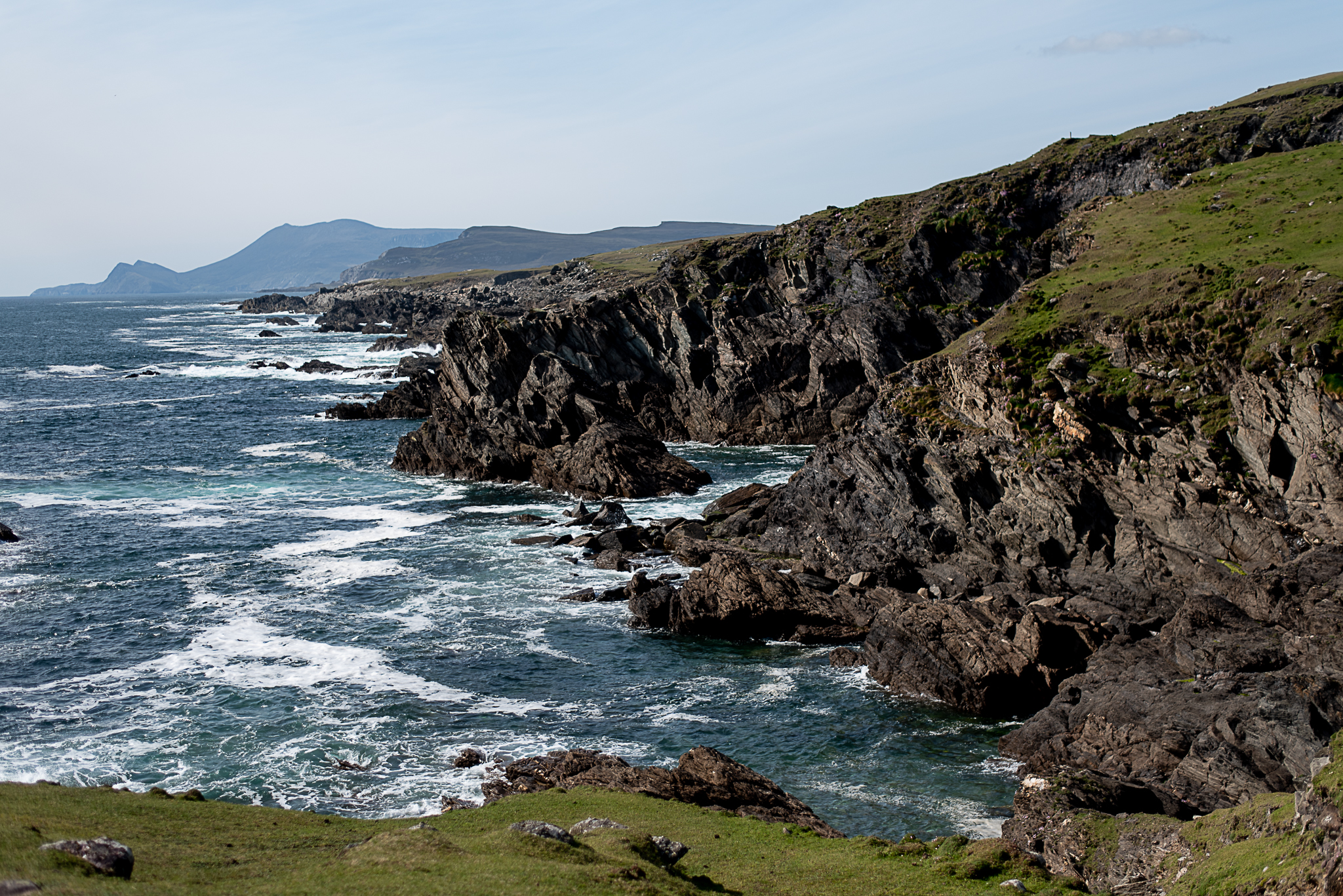 tinyboots, wild atlantic way, achill, ocean, cliffs, coastline, ireland