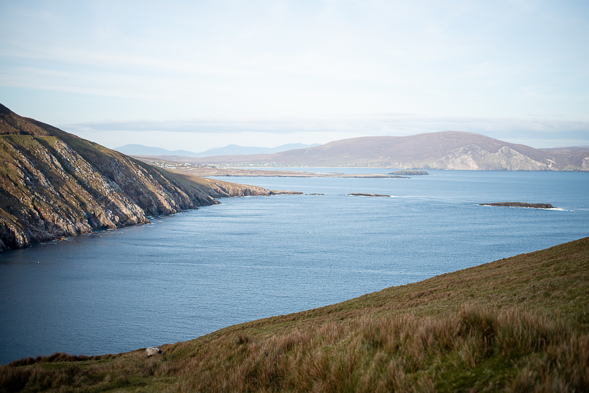 tinyboots, wild atlantic way, achill, ocean, cliffs, coastline, ireland, keem bay