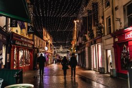 Christmas in galway, galway city, christmas time, christmas lights, street photography, tourist