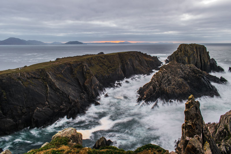 malin head, cliffs, water