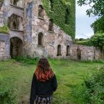 clifden castle, clifden, galway, ireland, ruins, ivy