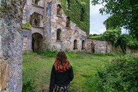 clifden castle, clifden, galway, ireland, ruins, ivy