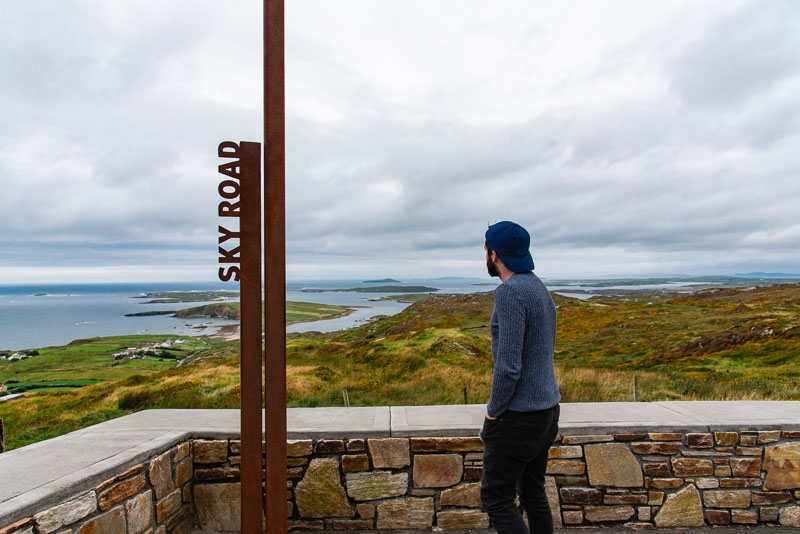 wild atlantic way viewpoint, clifden