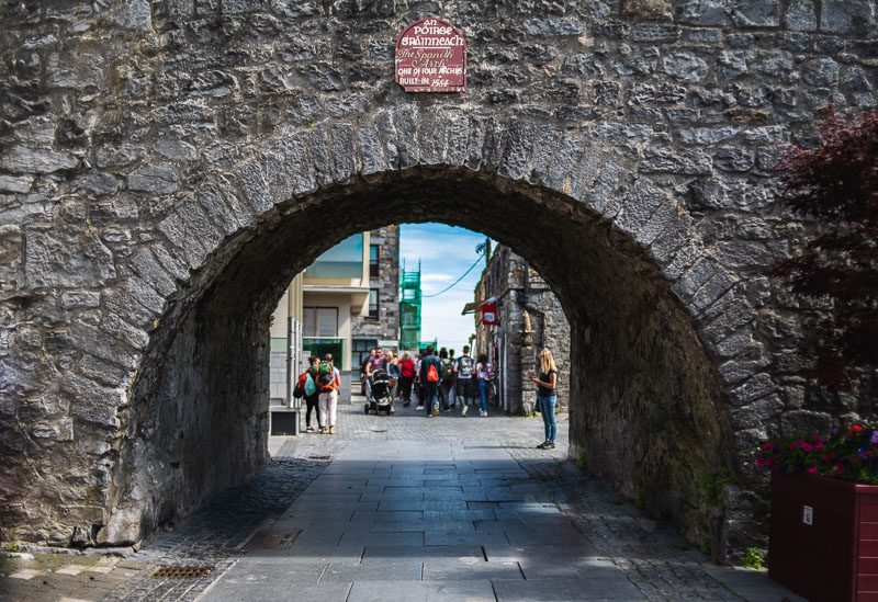 the spanish arch in galway, stone, medieval, archeway, instagrammable places galway