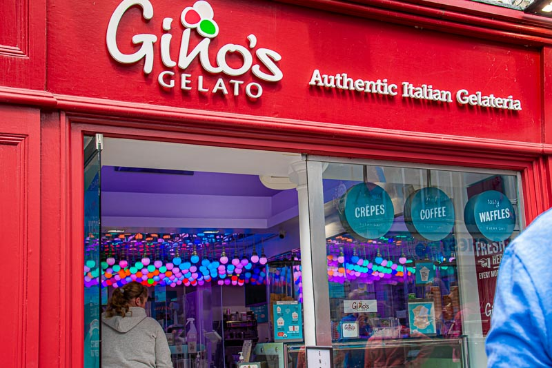 best ice cream in galway city, ginos gelato