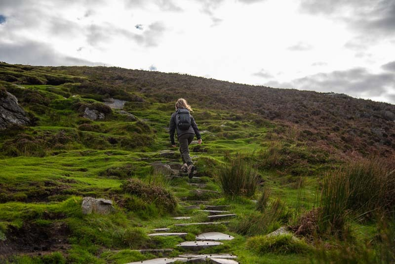 slieve league cliff walk donegal paving slaps, path, ireland