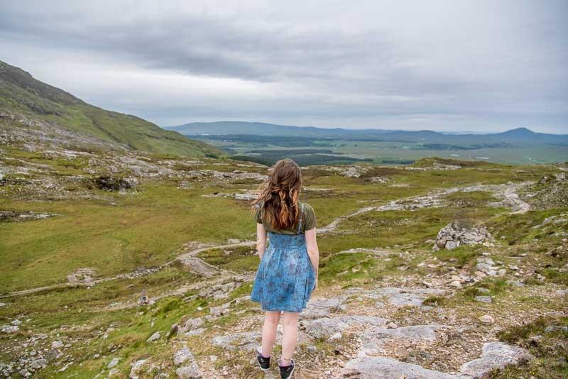 things to do in connemara, galway, ireland, west of ireland, brigits garden, staycation, roadtrip , hike, walk, trail, mam ean